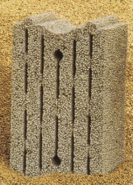Acoustic insulation concrete block