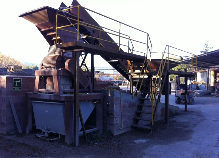 Recycling of concrete, block machines Rometa