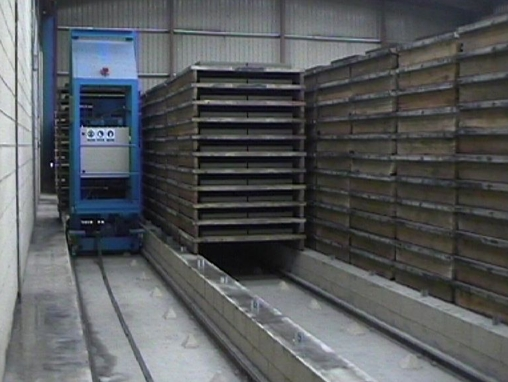 drying paver concrete blocks