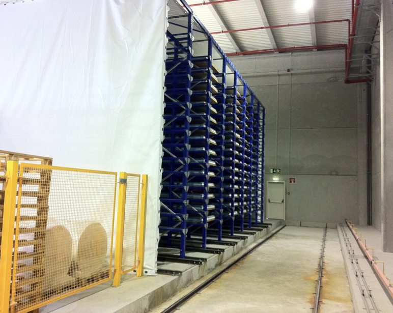 Installation drying concrete blocks