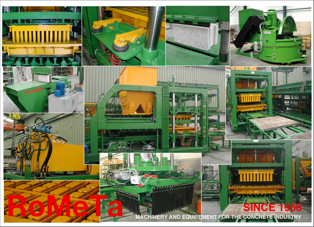 Clients of Rometa, block making machines