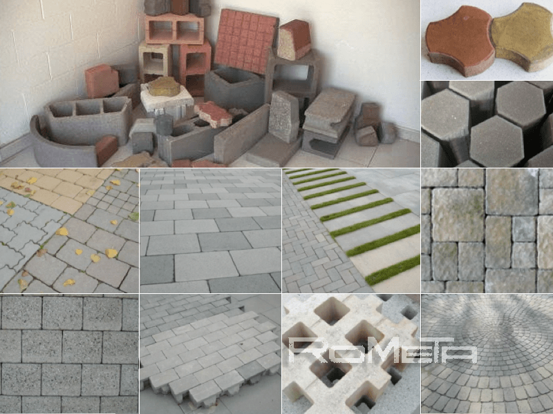 Concrete products made with block making machines